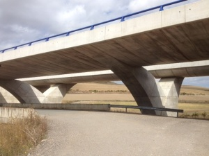 This is a highway underpass, I thought it looked kinda Star Trek, I liked it.