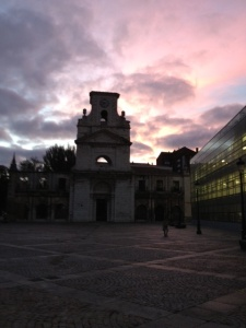 3 churches we past in Burgos, this is #2 at sunrise