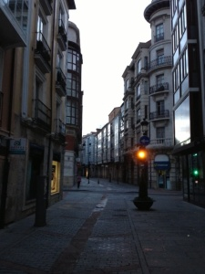 City streets of Burgos