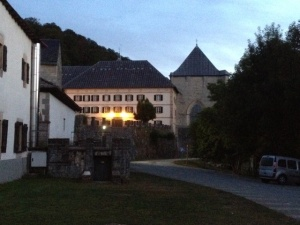 The monastery we stayed in last night