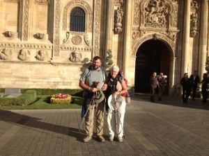 I asked some person to take our pic leaving the Parador.