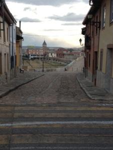 Looking toward  Hospital  De Orbigo
