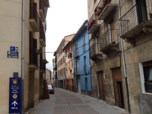 Walking into old Pamplona