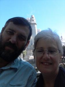 Having fun in Madrid