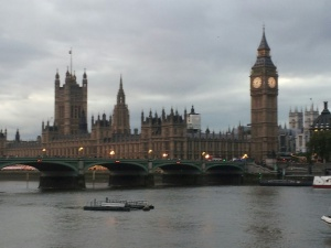 From the boat, Westminster and Big Ben