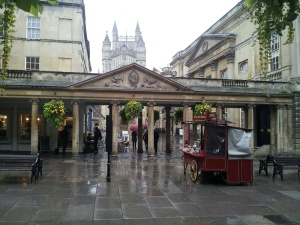 Going onto square by Roman Baths