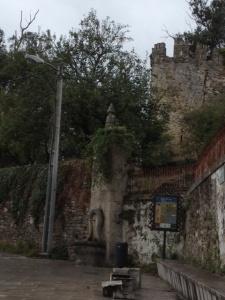 Ruined castle in Sarria,  Fortaleza de Sarria