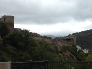 The castle walls